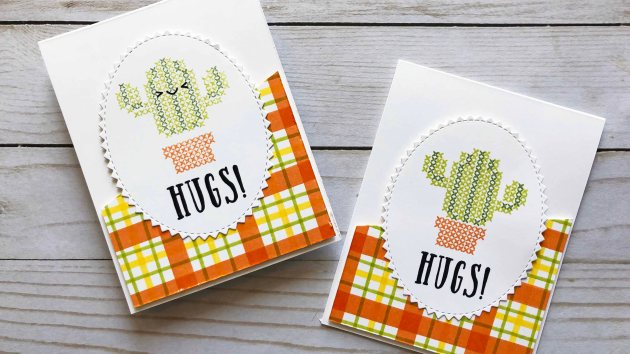 Learn How to Create Your Own Plaid Pattern Background for a Greeting Card
