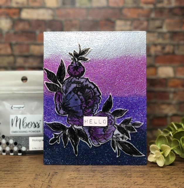 Learn How to Make an Embossed Background with Mboss