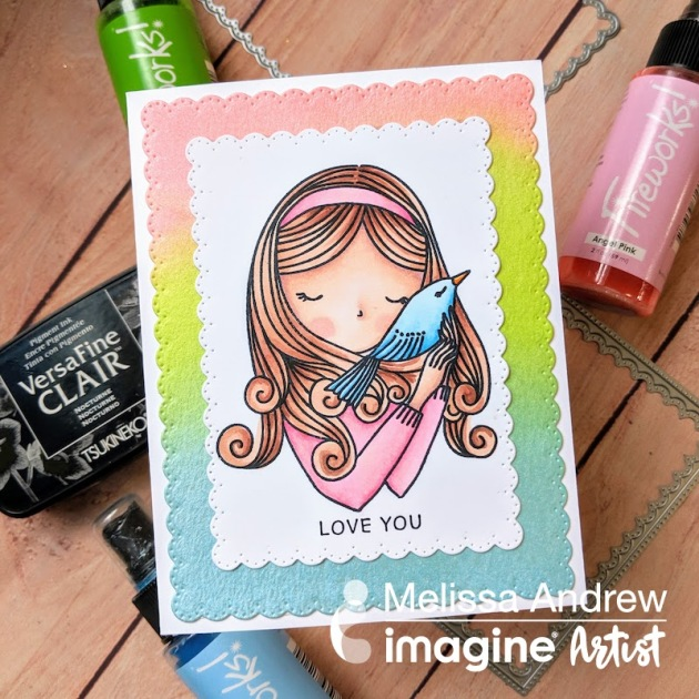 Create Soft and Simple Backgrounds for Your Cards with Fireworks Shimmer Spray