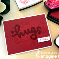 Learn How to Design a Crimson Color Greeting Card