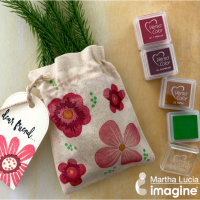 See How to Stamp on Fabric with VersaColor Ink