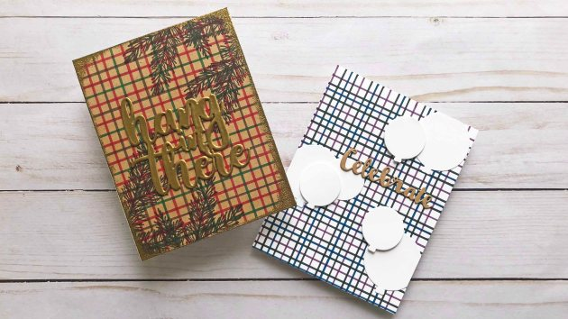See How to Make a Tattersal Background Pattern for a Card