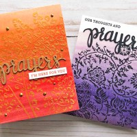 Create an Inspiring Prayer Themed Card with an Ombre Background