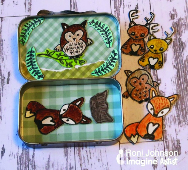 Make a Fun Woodland Themed Magnetic Candy Tin
