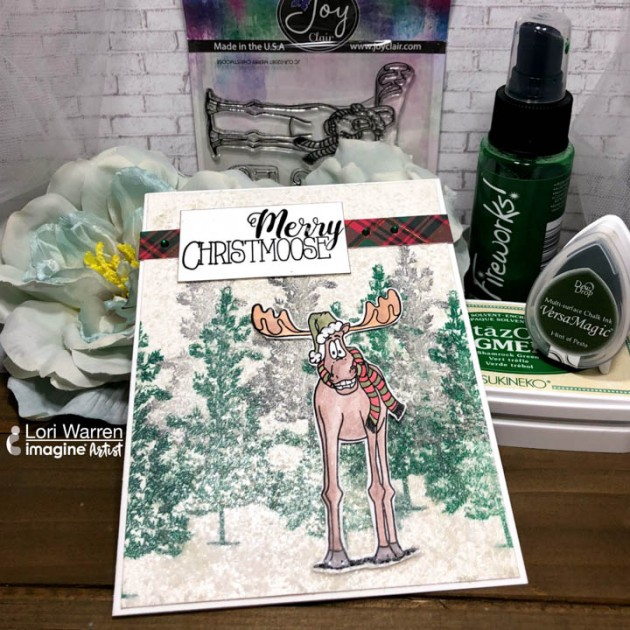 Create a Snowy Winter Scene Creative Medium and StazOn Pigment
