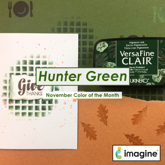 Color of the Month for November is Hunter Green