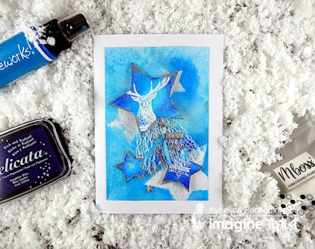 Create a Beautiful Icy Blue Holiday Card