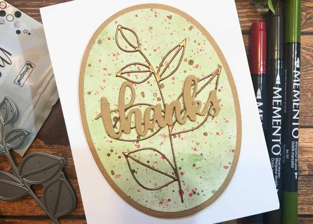 Create a Watercolored Thanks Card with Memento Markers
