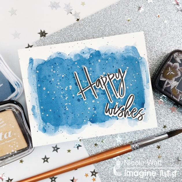 Create a Watercolor Wash with MementoLUXE and Delicata Inks