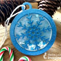 See How to Make a Snowflake Shaker Ornament with Mboss