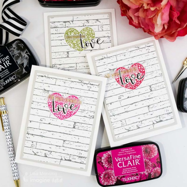 See How to Make Several Farmhouse Valentine's Day Cards VersaFine Clair