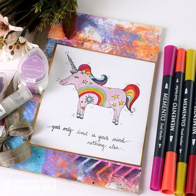 Inspirational Unicorn Journal Cover for 2020 with Memento Markers