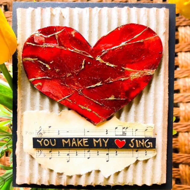 Fairuz Fabiha Valentine's Day Card You Make My Heart Sing