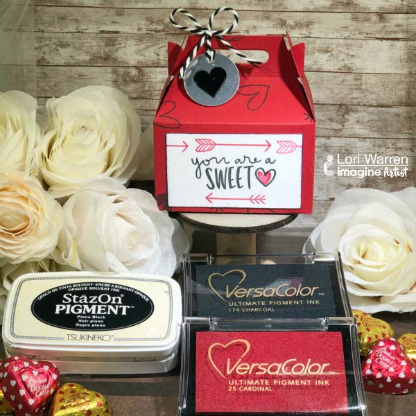 Create a Valentine's Day Treat Box with VersaColor and StazOn Pigment