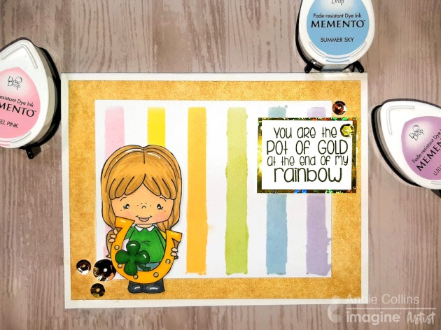 st patricks day card with memento ink and delicata