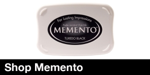 memento ink pad dew drop in tangelo