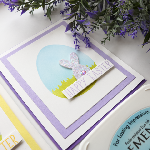 Learn How to Make Happy Easter + Shaped Ink Blended Backgrounds