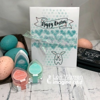 Layering with Different Ink Applications & Techniques for an Easter Card