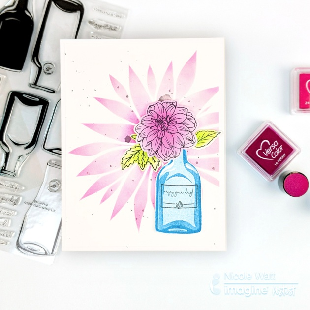 Versacolor ink to make a card