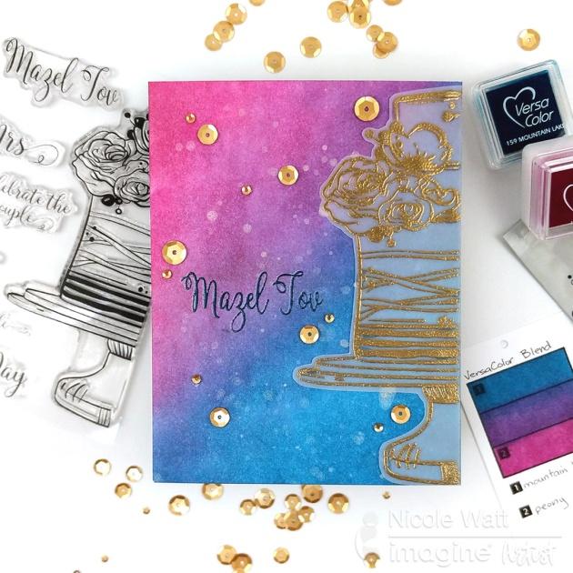 wedding mazel tov good luck greeting card for weddings