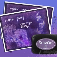 How To Create A Rich Purple Tone-On-Tone Halloween Party Invitation