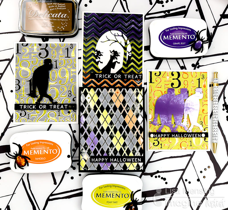 Letterpress Technique with Embossing Folders and Memento Dye Inks
