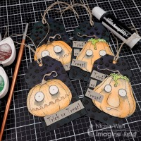 Spooky Pumpkin Treat Tags with Amplify Medium