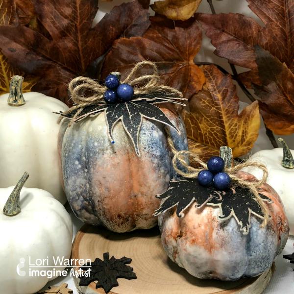 See How to Transform Plain Pumpkins to Fancy Shimmery Metallic Pumpkins