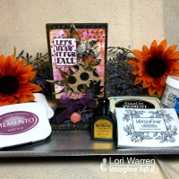 Mix Your Mediums for Fall Leaves Home Decor