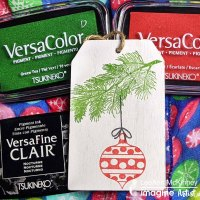 How to Make A Holiday Wooden Tag Ornament with VersaColor Ink Pad