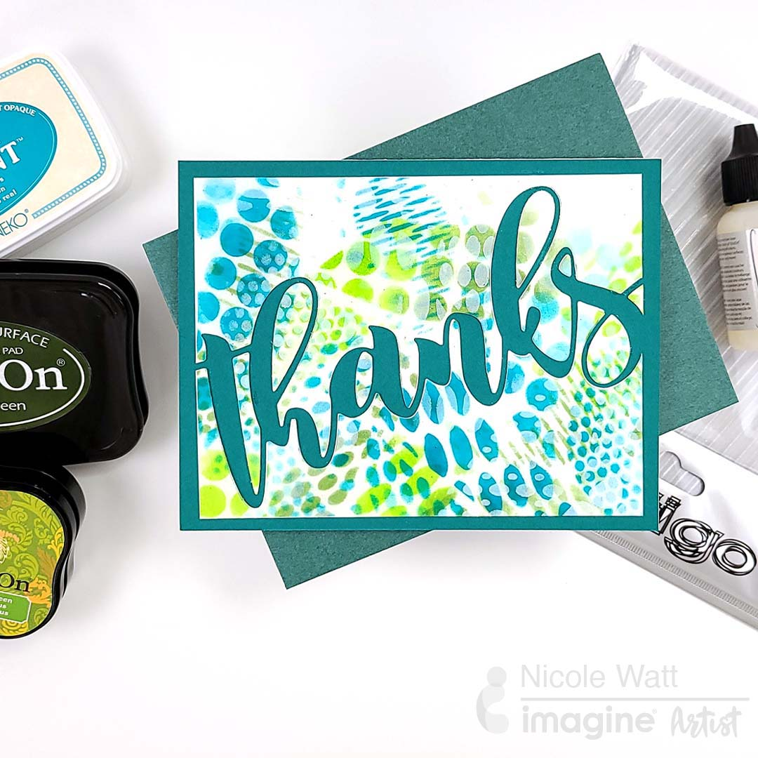 Create Crazy Depth in One Layer Thank You Card with Vertigo and StazOn