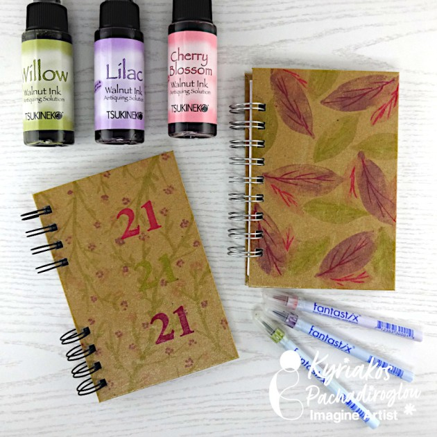 Create a Beautiful Kraft Notebook with Walnut Inks