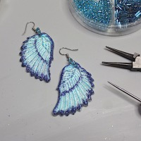Easy to Make Lightweight Sparkling Earrings