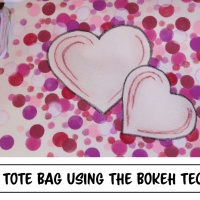 Learn How to Make a Hearts Canvas Tote Bag Using the Bokeh Technique