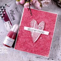 Create a Shimmery Valentine's Card Using Brilliance Inker