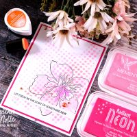 Create a Beautiful Layered Floral Card with Stamping and Stenciling