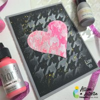 Create a Cool Houndstooth Heart Card Using Radiant Neon and Delicata Inkers