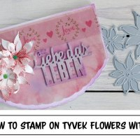 Learn How to Stamp on Tyvek Flowers with StazOn Inks