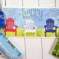Learn How to Make a Mini Slimline Happy July 4th Card