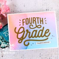 Make a Colorful Card Perfect for Advancing to the Next Grade